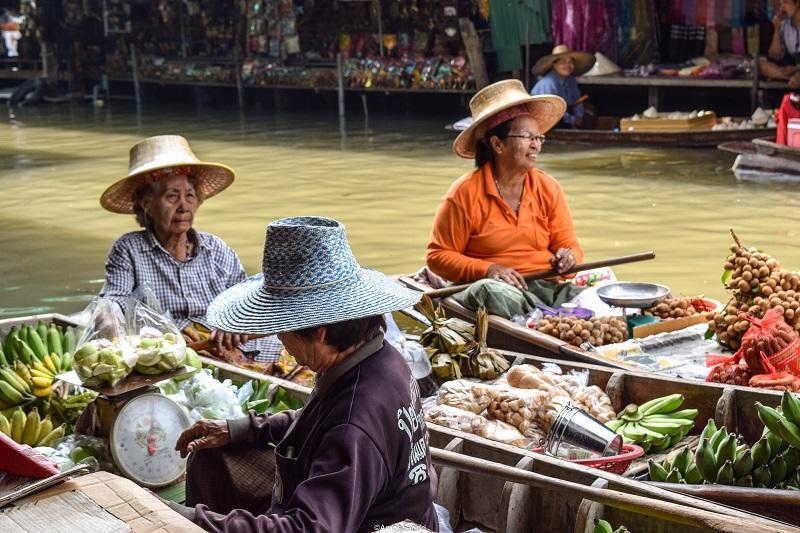 Floating Market – Damnoen Saduak, Bangkok
