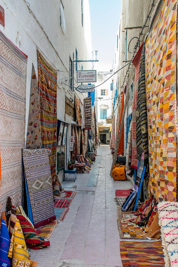 Negozi di tappeti a Essaouira