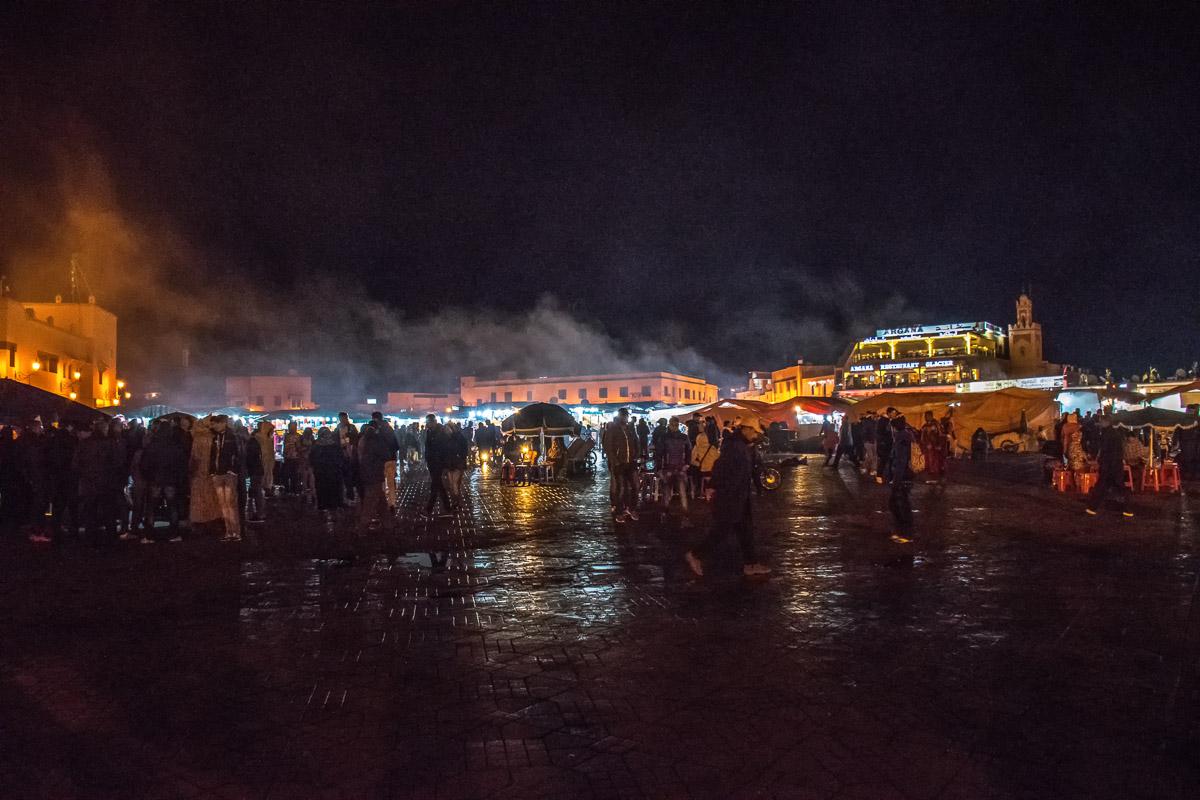 Piazza Jamaa el Fna di sera