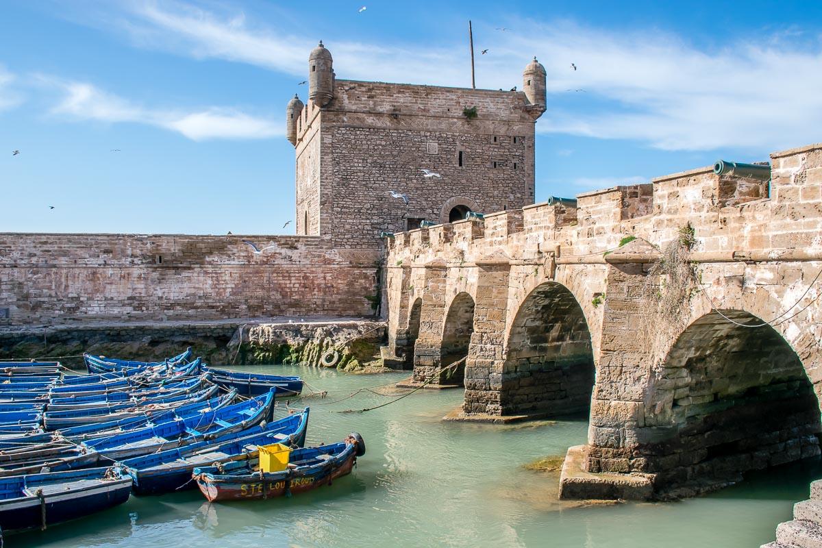barche al porto di Essaouira