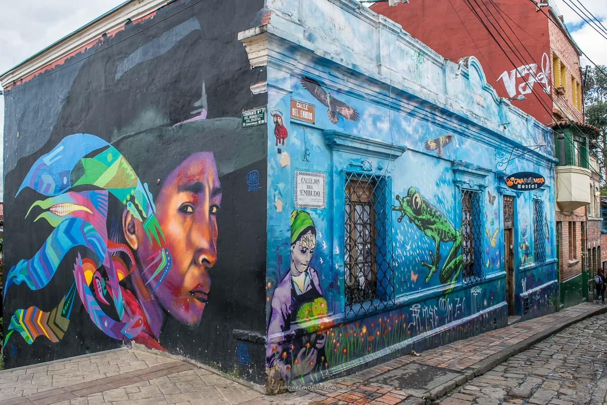 Doppio murales Bogotà