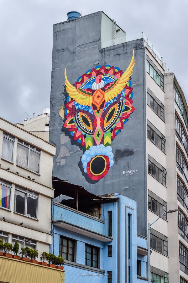 Murales palazzo Bogotà