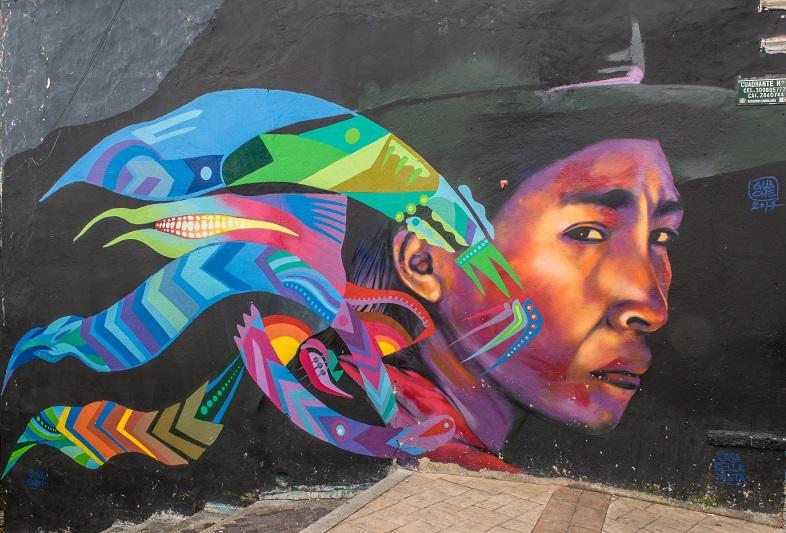 Murales indios Bogotà