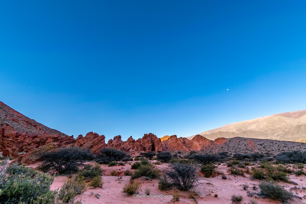 Deserto nella Quebrada de Las Señoritas